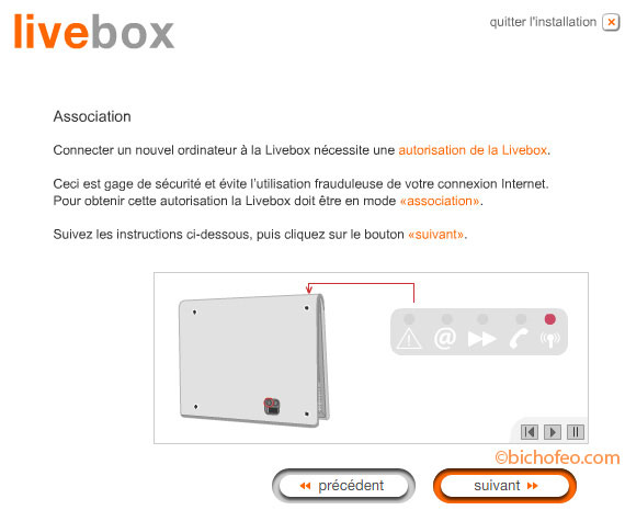 cd installation livebox inventel